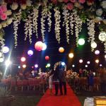 Outdoor wedding party