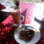 Handmade hot chocolate and Rocky Road dessert!