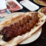 Double koobideh kebab on nan