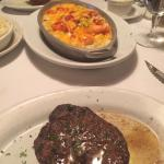 My filet mignon and the flavorful lobster Mac and chees.