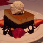 Special Flan and Chocolate Dessert