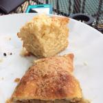 half of the apple strudel and what was left of the coconut bread. Full pic of the 2 pastries, wi