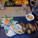 tarte et poulet sauce camembert