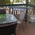 Private BBQ and dining on the verandah of the Cottage.
