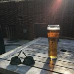 Sun trap beer garden out the back.