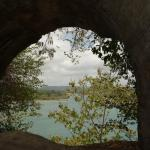 Looking through the arches onto the river