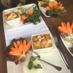 Thai Red Curry, Chicken Massaman Curry and Chicken Satay Starters