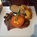 Beautiful steak au poivre