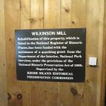 Description of the Wilkinson Mill (part of the Slater Mill exhibit)