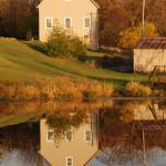 Fall Scene of Pond/Barn