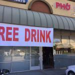 Pho 5 is now free drinks and dessert