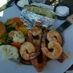 Filet mignon and shrimp