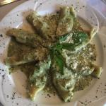 Delicious stuffed pasta with pesto
