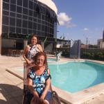 No hotel Aran, minha sogra e minha cunhada