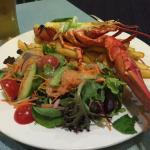 Red Claw 1/2 Lobster with chips and salad