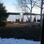 View from my room, this is the front of the property on the lake