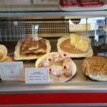 Wide selection of cake. Veggie breakfast. Sausage and mash. Good food. Great value.
