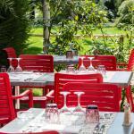 Terrasse vue jardin japonnais du restaurant le 5ème Sens