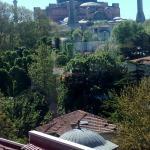 Vista de Santa Sofía desde el Olive Restaurant