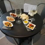 Tapas boards and wine