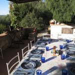 La terrasse petit déjeuner