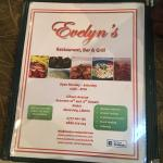 At Evelyn's Restaurant