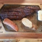 Skirt steak with plantain & yucca