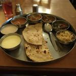 The thali.. Rice and pappad to follow