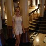Everything in this hotel is detailed. Look at the floor, stairway, and columns. All are gorgeous
