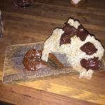 Chocolate Coated Pork Crackling with Salted Caramel Sauce