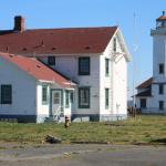 Point Wilson Lighthouse; note it is fenced off.