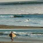 Puerto Sandino Surf Resort staff getting their afternoon surf session