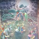 Pintura a la entrada de Jade Maya