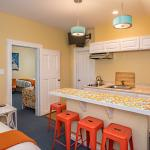 Two-room suite 9 gets a breakfast bar, new colors, and new mattresses
