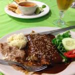 enchiladas mole at the York Hotel restaurant