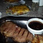 Prime rib and hashbrowns