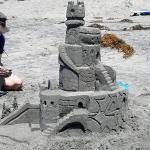 Birthday Sand Castle
