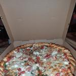 The Greek Pizza...Feta, spinach, tomatoes. Delicious.