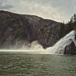 This waterfall, Fountain of Youth, is a stop on the way to Sawyer Glacier, Tracy Arm Fjord .