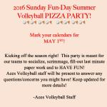 2016 VB Pizza Party