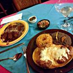 Mole poblano and enchiladas
