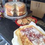Beautiful homemade cakes and beautifully homecooked food!!