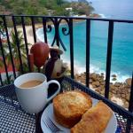 A little Yarita's coconut bread and apple empanada--great way to start your day!