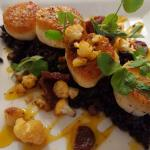 Diver Sea Scallops and Chinese Black Rice
