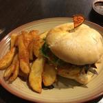 Veggie Burger with Peri-Wedges