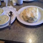 Huge Fluffy Omlette w/Plenty of Mushsroom Sauce On the Side.