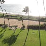 Unit 506, Looking off the Lanai at the beach