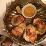 The Oysters.... you MUST...I just wish I had several orders... SO good