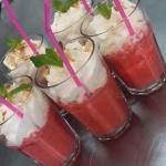 cappuccino de fraises