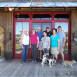 Most of us in front of the Saloon at the Deadbroke Inn. Fun times!!